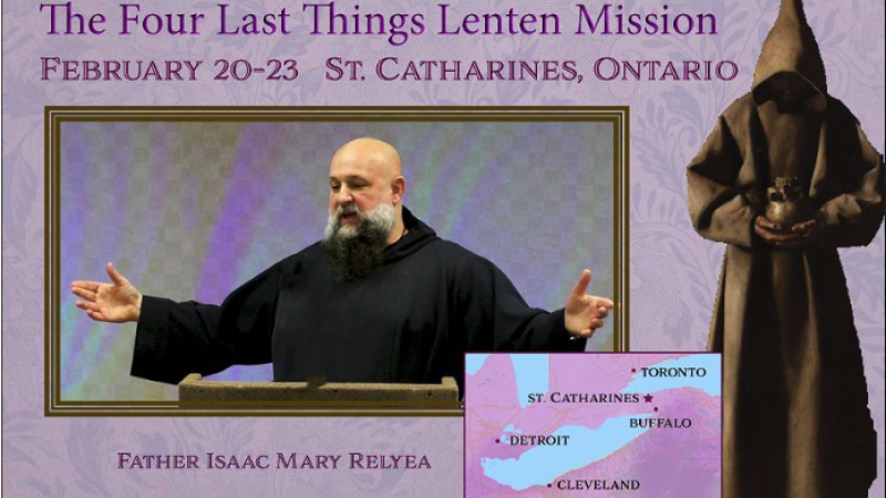 Mission by Fatima Centre at St. Catharines
